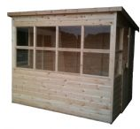 image 1060 potting shed free stable door and glass supplied not fitted