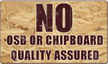no osb or chipboard